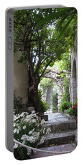 Portable Battery Charger featuring the photograph Eze Passageway by Carla Parris