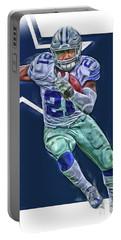 Ezekiel Elliott Dallas Cowboys Oil Art Series 3 Portable Battery Charger