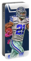 Ezekiel Elliotte Dallas Cowboys Oil Art Portable Battery Charger