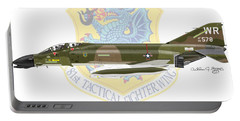 F-4d Phantom II Raf Bentwaters Portable Battery Charger by Arthur Eggers