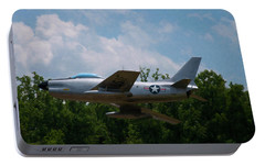 Portable Battery Charger featuring the digital art F-86l Sabre by Chris Flees