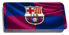 F. C. Barcelona - 3d Badge Over Flag Portable Battery Charger