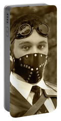 Portable Battery Charger featuring the photograph F-f-f-faba Beans - Steampunk by Betty Denise