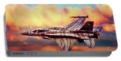 Portable Battery Charger featuring the photograph F16c Fighting Falcon by Chris Lord