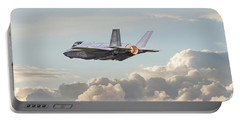 Portable Battery Charger featuring the photograph F35 -  Into The Future by Pat Speirs