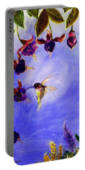 Portable Battery Charger featuring the painting Fabulous Fast Food by Lisa Kaiser