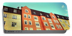 Facades Of Colorful Buildings In Stockholm Portable Battery Charger
