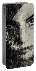 Face In A Dream Grayscale Portable Battery Charger