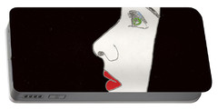 Face In Profile Portable Battery Charger