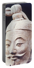 Portable Battery Charger featuring the photograph Face Of A Terracotta Warrior by Heiko Koehrer-Wagner