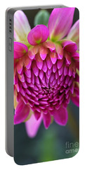 Face Of Dahlia Portable Battery Charger
