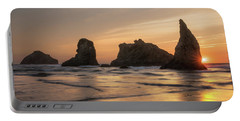 Face Rock Sunset Portable Battery Charger