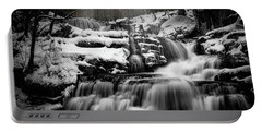 Portable Battery Charger featuring the photograph Factory Falls In Winter by Chris Lord