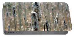 Faded Cattails Portable Battery Charger