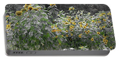 Faded Sunflower Garden Portable Battery Charger