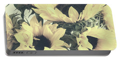 Faded Sunflowers Portable Battery Charger