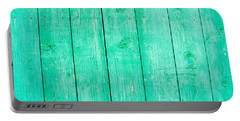 Fading Aqua Paint On Wood Portable Battery Charger by John Williams