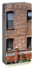 Fading Brick Facade Portable Battery Charger