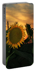 Fading Sunflower Portable Battery Charger