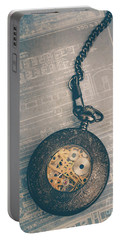 Portable Battery Charger featuring the photograph Fading Time by Edward Fielding