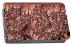 Portable Battery Charger featuring the digital art Faerie Forest Floor I by Susan Maxwell Schmidt