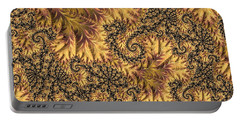 Portable Battery Charger featuring the digital art Faerie Forest Floor II by Susan Maxwell Schmidt