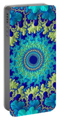 Portable Battery Charger featuring the digital art Faerie Woods by Susan Maxwell Schmidt