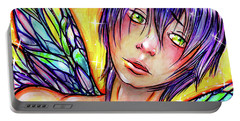 Faery Boy Portable Battery Charger by Nada Meeks