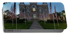 Fairbury Nebraska Avenue Of Flags - September 11 2016 Portable Battery Charger