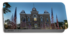 Fairbury Nebraska Avenue Of Flags - September 11 2016 Portable Battery Charger