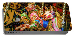 Fairground Carousel Horses Portable Battery Charger