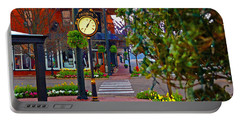 Fairhope Ave With Clock Down Section Street Portable Battery Charger