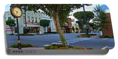 Fairhope Ave With Clock Portable Battery Charger