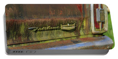 Portable Battery Charger featuring the photograph Fairlane Emblem by Doug Camara