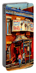 Fairmount Bagel Montreal Portable Battery Charger