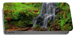 Portable Battery Charger featuring the photograph Fairy Falls Oregon by Jonathan Davison