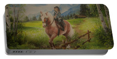 Fairy Tale In The Alps Portable Battery Charger