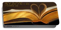 Faith. Hope. Love. Portable Battery Charger