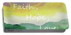 Faith Hope Love Portable Battery Charger