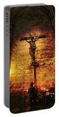 Faith, Light, And Hope Portable Battery Charger by John Rivera