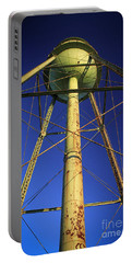 Portable Battery Charger featuring the photograph Faithful Mary Leila Cotton Mill Water Tower Art by Reid Callaway
