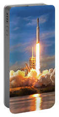 Portable Battery Charger featuring the photograph Falcon Heavy Rocket Launch Spacex by SpaceX