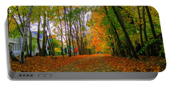 Fall Afternoon On The Rail Trail Portable Battery Charger