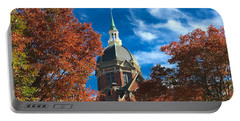 Fall And The Dome Portable Battery Charger by Mark Dodd