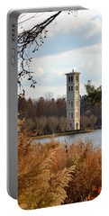 Fall At Furman Portable Battery Charger by Corinne Rhode