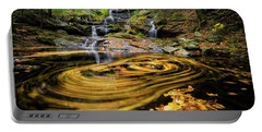 Fall At Garwin Falls Portable Battery Charger