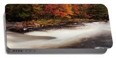 Fall At Oxtongue Rapids Portable Battery Charger