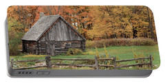 Fall At The Log Cabin Portable Battery Charger
