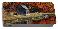 Fall At Rye Portable Battery Charger by Tricia Marchlik