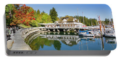 Fall At The Rowing Club In Vancouver Portable Battery Charger